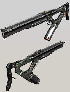 ArtStation - ガルーダ(GARUDA) LHOP Projector Rifle Closeup and Graphic, Alex Senechal