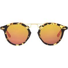 Krewe Du Optic Bengal Mirrored Frame Sunglasses as seen on Gigi Hadid