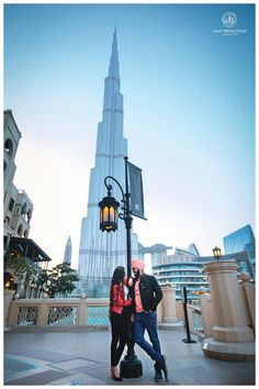 The lovely couple had an amazing time together and got clicked at various places in the beautiful city, famous for beaches, huge structures, and deserts. Pre Wedding Shoot Ideas, Pre Wedding Photoshoot, Best Places In Dubai, Prewedding Photo, Burj Khalifa, Romantic Couples, Couple Photography, Photo Shoot, Photo Ideas