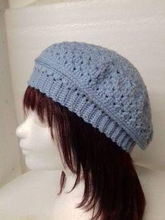 Licht blauwe zomer baret Crochet Hats, Fashion, Knitting Hats, Moda, La Mode, Fasion, Fashion Models, Trendy Fashion