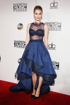 Rebecca Romijn - Wearing a Rita Vinieris gown and Noudar jewels.