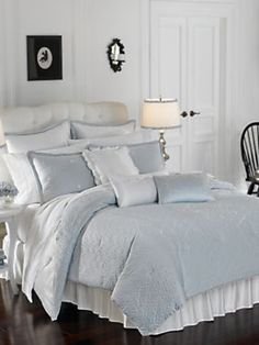 Lenox French Perle Bedding Set Modern Bed Pillows And Pillowcases