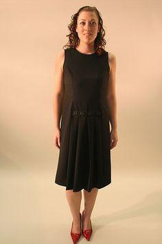 MIZWEAR A-LINE DRESS WITH PLEATED BOTTOM, BLACK, SIZE 4  $48.99 www.darlingdiscounts.com