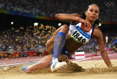Jade Johnson of Great Britain competes in the Women's Long Jump Final