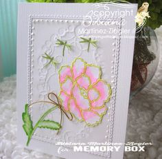Stamping with Bibiana: White Peony: Inlay Technique using memory box dies mother's day card flower Memory Box Dies, White Peonies, Garden Furniture, I Card, Card Ideas, Card Making, Memories, Peony, Stamping