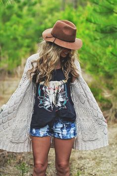 Eclectic cool :) Love her hat!