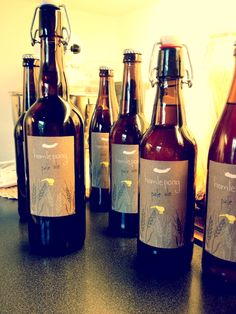 My beer (brewed with Bernie) with home made labels