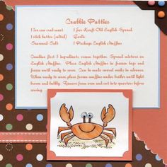 6x6 Recipe Card by gulfcoaststamper - Cards and Paper Crafts at Splitcoaststampers