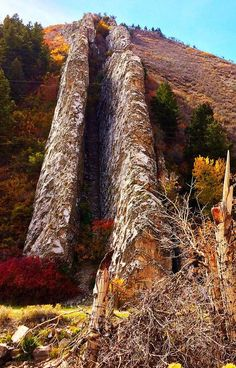 Devil's Slide is an unusual geological formation located in northern Utah's Weber Canyon