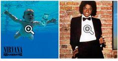 La creatividad con portadas de discos famosos.