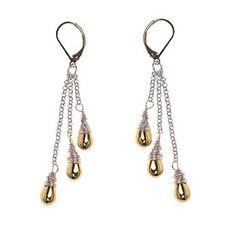 Silver & Gold Drops Earrings