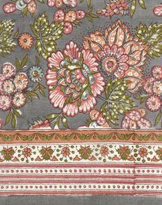 Anokhi USA: Autumn Garden cotton scarf