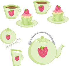 Strawberry Tea Party Royalty Free Stock Vector Art Illustrationistockphoto.com