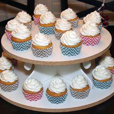 Chevron Print Gender Reveal Party - Sweets & Treats Boutique
