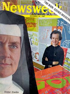 The Nun Going Modern. Corita Kent, also known as Sister Mary Corita, gained international fame for her vibrant serigraphs during the 1960s and 1970s. A Sister of the Immaculate Heart of Mary, she ran the Art Department at Immaculate Heart College until 1968 when she left the Order and moved to Boston.