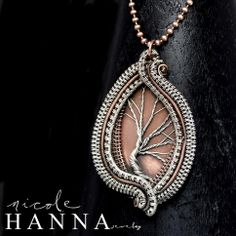 Tree of Life Pendant, Copper & Silver from Nicole Hanna Jewelry