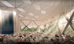 Al-Ansar Mosque. Design by FARM, in partnership with KD Architects. Singapore.