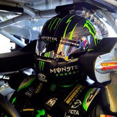 Kyle Busch Monster Energy behind the wheel