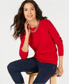 6caec168f5f Pure Cashmere Solid Crewneck Sweater in Regular   Petite Sizes