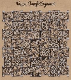 Tangled Tranquility | …a Zentangle inspired quest for tranquility - love the brown background