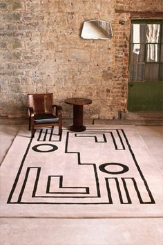 From Irish rug company Ceadogán No. 22 from the Mainie Jellett collection. Saw two of their excellent rug interpretations of American ceramicist Andrew Ludick's work at Wanted Design 2015. Would love to see more of their work.
