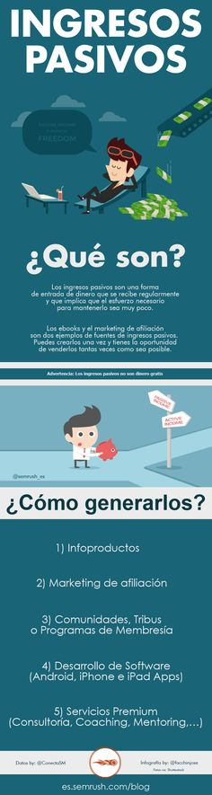 ¿Qué son y cómo generar ingresos pasivos? Business Marketing, Internet Marketing, Online Marketing, Social Media Marketing, Online Business, Digital Marketing, Content Manager, Bussines Ideas, Web Design Tips