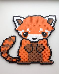 Red Panda Perler by MagpiesCreates on Etsy