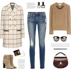 ... by yexyka on Polyvore featuring polyvore, fashion, style, Burberry, Tory Burch, Frame Denim, Chloé, Linda Farrow, Tom Ford and MAC Cosmetics