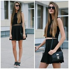 Yulia Sidorenko - H&M Skirt, Nanet Bag, Chic Wish Heels, Sinsay Sunglasses - Mono