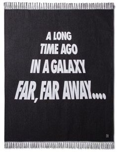 "Star Wars Galaxy Black Throw Blanket (50""x60"")"