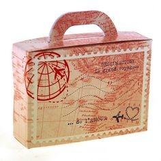 Boite à dragées valise voyage vintage  #mariage #voyage