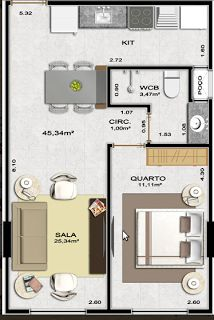 1 bedroom/ 1 bathroom/ kitchen/ dining/ living