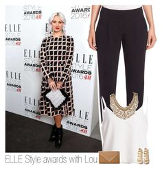 """""""ELLE style awards with Lou"""" by one-direction-makes-me-strong ❤ liked on Polyvore featuring Akris Punto, Christian Louboutin, Topshop and louteasdale"""