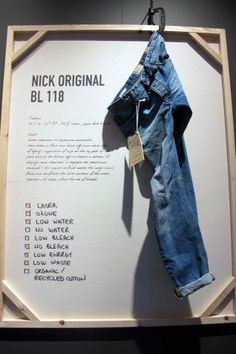 Like: multiple re-use options for framed panel, C-clamp attachment device reinforces durability of denim.