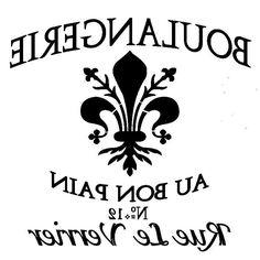 Items similar to Euro Stencil Design . Boulangerie Fleur de Lis French stencil used for burlap pillows, bedding, sign painting . 12 x 12 inches on Etsy Logo Fleur, Tattoo Fleur, Image Paris, Image Deco, Foto Transfer, Burlap Pillows, Address Stamp, Stencil Designs, Stencil Patterns