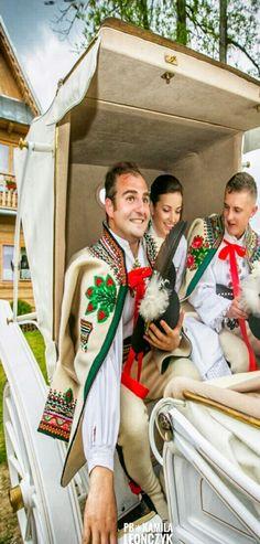 Traditional wedding in the town of Zakopane, region of Podhale, Poland
