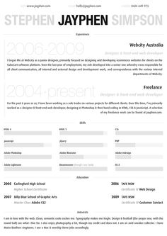 Resume by ~jayphen on deviantART
