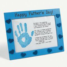 Father's Day Handprint Poem - Father's Day Crafts