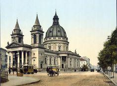 Warszawa przedwojenna - plac Trzech Krzyży i kościół św. Aleksandra