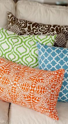 Cotton Pillows, Pillow Covers and Pillow Inserts