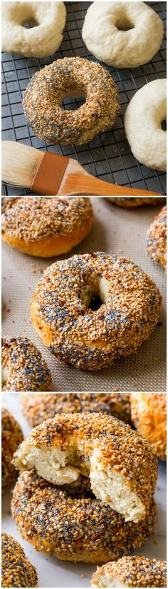 Lower Excess Fat Rooster Recipes That Basically Prime Here Is A Complete Step-By-Step Instructional Tutorial And Recipe For Homemade Bagels. I Love The Everything Flavor Bagel Bread, Bread Food, Bread Recipes, Cooking Recipes, Homemade Bagels, Bagel Recipe, Sallys Baking Addiction, Everything Bagel, Croissants