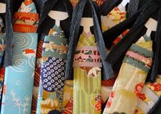 Kimono Reincarnate: How To Make Japanese Paper Dolls. I made these in second grade and thought they were the coolest thing ever.I think my mom still has it mixed in with my artwork she's saved over the years.
