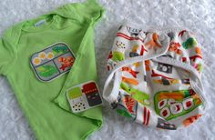 Cloth diaper cover and matching embellished tee  silly by Zookaboo, $27.00