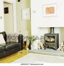 Image result for living rooms with wood burning stoves