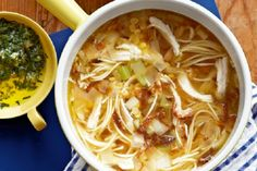 Chicken Noodle Soup with Mint Gremolata 15 Chicken #Noodle #Soup #Recipes | Yummy Recipes