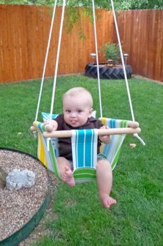 DIY Hammock Baby Swing This one actually has the tutorial as long as you scroll to the bottom of the page and click on the source button under the image of the swing