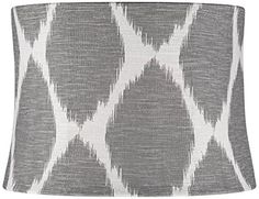 Gray Ikat Drum Lamp Shade 13x14x10 (Spider) Universal Lighting and Decor-------------------   would have to make sure the print didn't clash with the bed