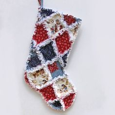 Kids Christmas Stocking - Cowboy Stocking - Rag Quilt Stocking -  Western - Personalized Christmas Stocking