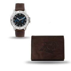 Carolina Panthers Watch/Wallet Gift Set