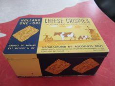 Vintage Cheese Crispies of Holland Tin by VintageVeneers on Etsy